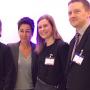 dbb Jahrestagung 2017 in Köln: Dunja Hayali am Infostand des dbb vorsorgewerk