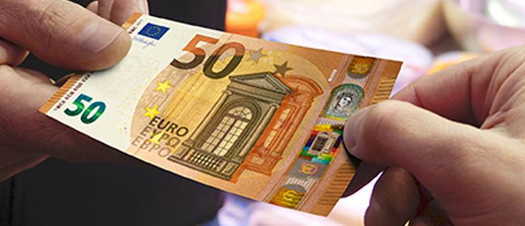 Banknote: Neuer 50 Euro Geldschein im Umlauf © Europäische Zentralbank