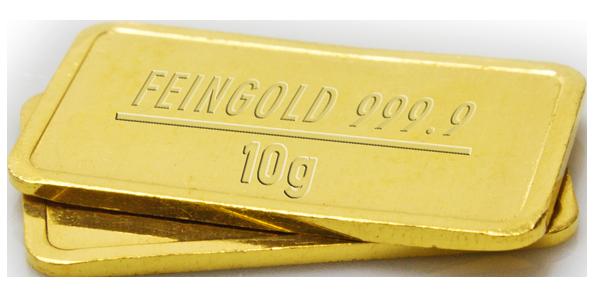Jubiläumsgewinn Goldbarren
