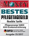 Pflegevorsorge Vario - Testsiegel Focus Money