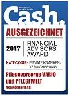 Pflegevorsorge Vario - Testsiegel Cash