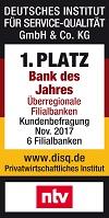 BBBank Bank des Jahres Siegel disq