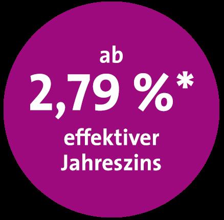 Störer ABK 2,79% effektiver Jahreszins