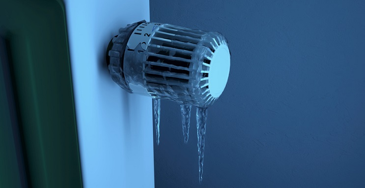 Eingefrorenes Thermostat - Frost Leitungswasserschäden