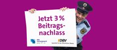 3 Prozent Beitragsnachlass-DBV