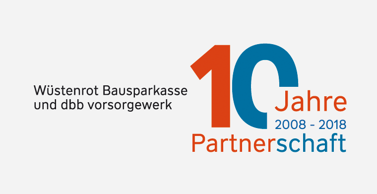 10 Jahre Partnerschaft dbb vorsorgewerk und Wüstenrot