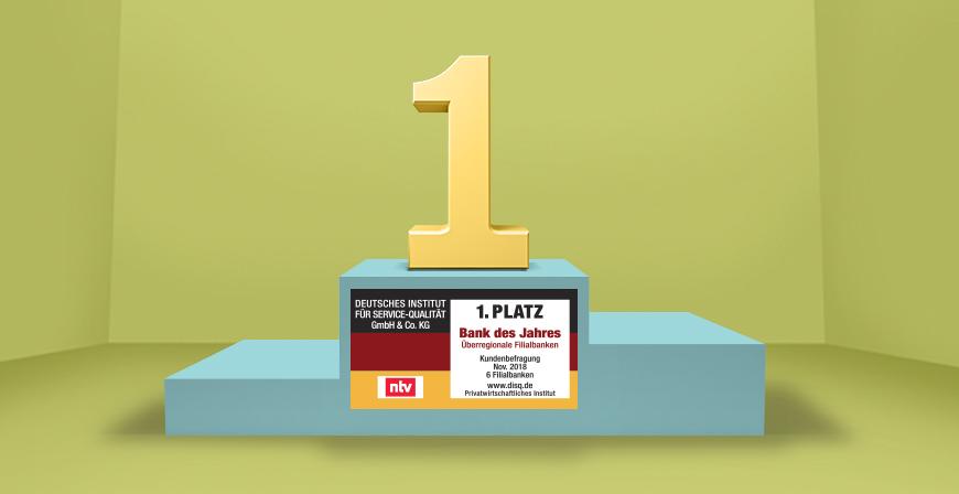 ie BBBank belegt das sechste Jahr in Folge den Spitzenplatz unter den überregionalen Filialbanken.