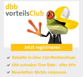 Jetzt registrieren: dbb vorteilsClub