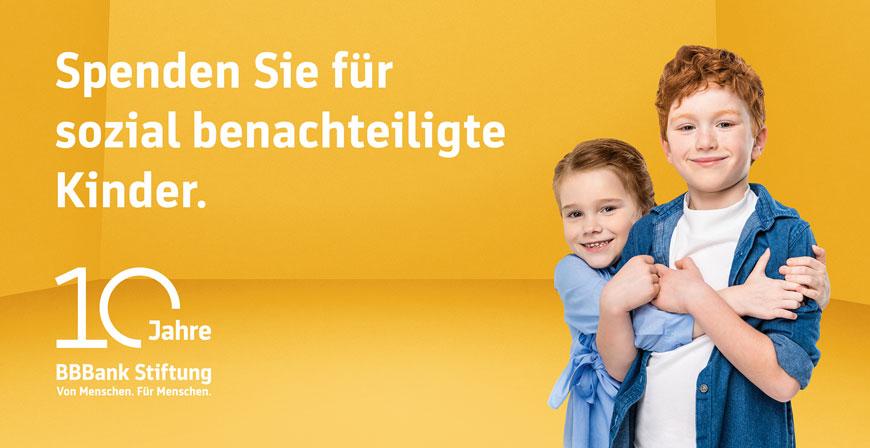 Zukunftsperspektiven schaffen: BBBank-Spendenaktion für sozial benachteiligte Kinder